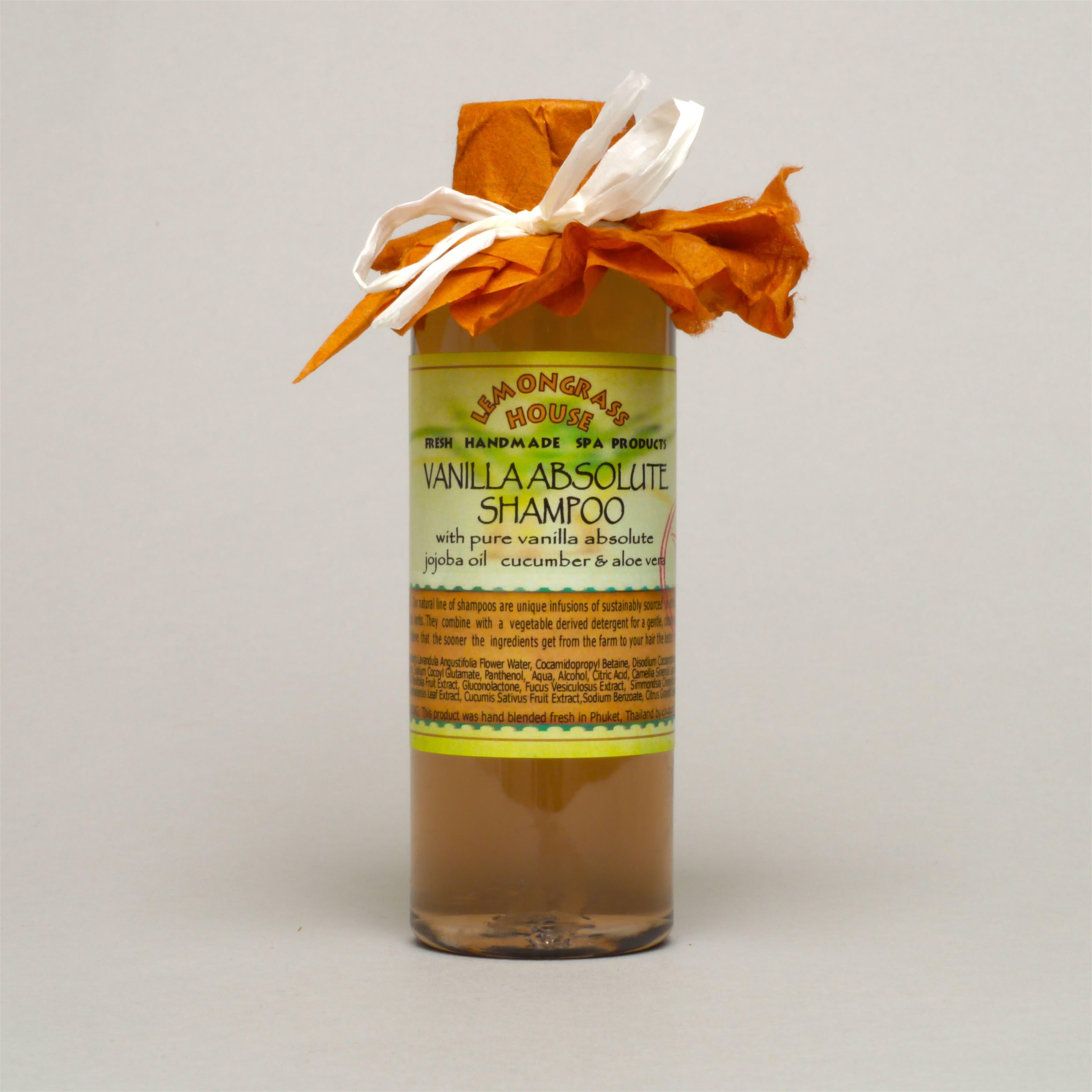 Vanilla Scented Natural Shampoo From Lemongrass House Uk